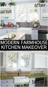 farmhouse kitchen cabinet paint colors modern farmhouse kitchen makeover hoosier