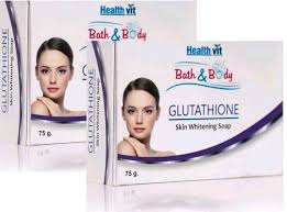 Gluta Shop healthvit bath glutathione skin whitening soap 75g pack of 2