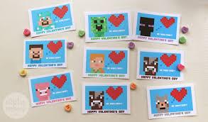 minecraft valentines minecraft s day cards for classmates alpha