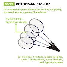 amazon com champion sports outdoor badminton set net poles 4