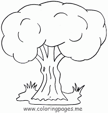 coloring page children with tree kids coloring