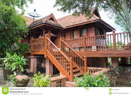 traditional thailand wooden house stock photo image traditional