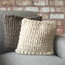 Knitted Cushion Cover Patterns Barnstaple Chunky Knitted Panel Cushion By Lauren Aston