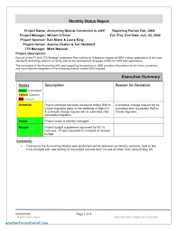 ar report template monthly project progress report template high quality templates