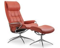 fauteuil stresless fauteuil relax en cuir crème et pied en étoile chromé