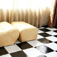 sell pvc floor covering simple elegent black and white block