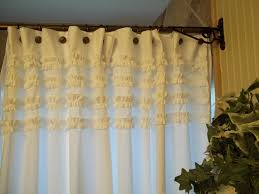 Shabby Chic Curtains Cottage Shabby Chic White Fabric Shower Curtain Remove Mold Stain White