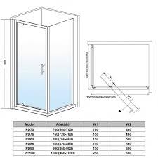 Shower Door Width Pivot Door 6mm Framed Shower Enclosure Set