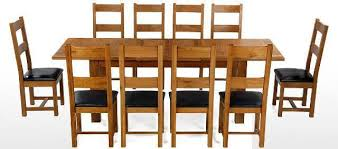 oak table and chairs aesthetic oak wood 10 chair dining table sets melissa darnell