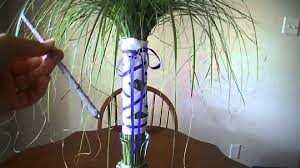 easy palm tree centerpiece quick 5 minute tutorial youtube