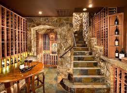 Wine Cellar Wall - wine cellar doors wine cellar traditional with red walls wine racks