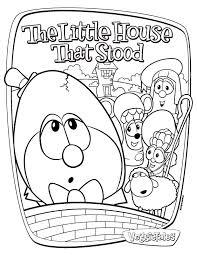 we love to homeschool veggietales the little house that stood