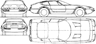 ferrari front drawing 1968 ferrari 365 gtb 4 daytona coupe blueprints free outlines