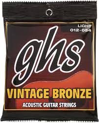 Medium Light Guitar Strings by Ghs Vn L Vintage Bronze 85 15 Light Acoustic Guitar Strings