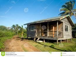 basic beach house cabana corn island nicaragua stock photo image