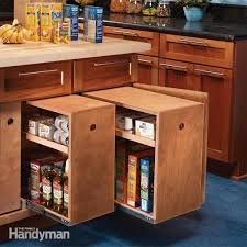 Storage Cabinets Kitchen Kitchen Storage Cabinet Rollouts The Family Handyman