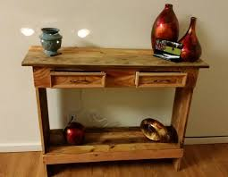 Hallway Table Rustic Pallet Wood Entry Hallway Table Pallet Ideas Recycled