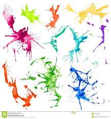 vector paint splash font a b c d stock vector image 40395764