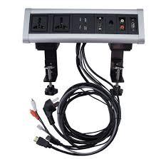 Office Desk Power Sockets Surface Mount Electrical Outlet Desktop Socket Office Desk Power