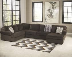 chocolate living room jessa place chocolate 3 pc raf chaise sectional 39804 17 34