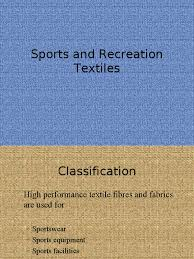 sports and recreation textiles textiles composite material