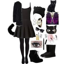 Fluffy Halloween Costumes Black Cat Halloween Costume