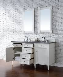48 Inch Bathroom Vanity With Granite Top James Martin Brittany Double 60 Inch Transitional Bathroom
