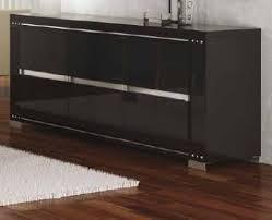 Black Gloss Sideboards Armonia Italian High Gloss 3 Door Sideboard Buffet Black