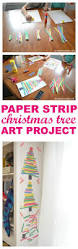 kid art project paper strip christmas tree simple art projects