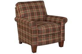 Plaid Chair And Ottoman by Gina 6966 Chair And Ottoman Sofas And Sectionals