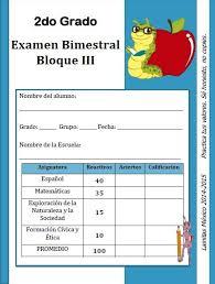 examen montenegro 3 grado primaria ejercicios complemenarios lainitas 1 2 3 4 y 5 bim 14 15