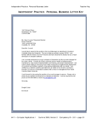 personal business letter format business letter format formal and