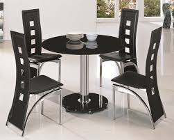 Glass Dining Table And 4 Chairs by Stunning Round Glass Dining Table And Chairs On Small Home