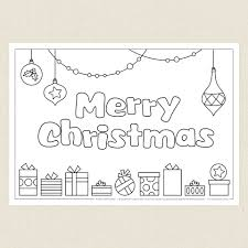 merry christmas colouring sheet cleverpatch