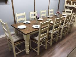 Unique Farmhouse Styled 10 Chair Dining Table Sets Melissa Darnell