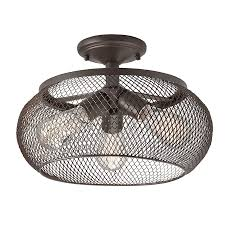 Kichler Lighting Lights by Shop Kichler 14 02 In W Olde Bronze Metal Semi Flush Mount Light