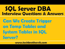 can we create trigger on temp tables and system tables in sql