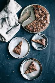 nutella brownie tart topped with coffee salt the artful desperado