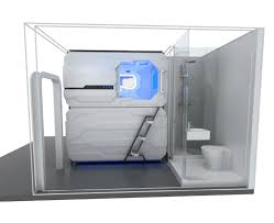 hign quality horizontal capsule hotel sleeping pods double beds