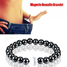 bracelet health magnetic images 1pc weight loss round black stone magnetic therapy bracelet health jpg