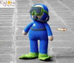 pattern scuba diver submariner amigurumi by caloca crochet from