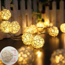 led garland christmas lights 5m 10m string fairy lights rattan ball lights led christmas lights