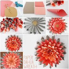 ideas diy beautiful paper dahlia wreath