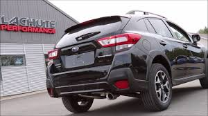 subaru crosstrek interior trunk lachute performance muffler delete 2018 subaru crosstrek youtube