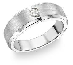 band ring 14k white gold men s diamond band ring 0 18 carats