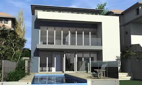 North Facing Backyard Architect Design 3d Concept High House Balgowlah Heights