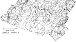 Map Of Wv Hampshire County Wv History Homepage