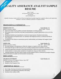 best ideas of sample quality assurance resume with download