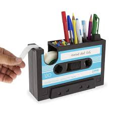 buy packnbuy rewind desk tidy pen stand tape dispenser set