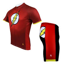 red cycling jacket cycling jersey men super hero the flash cycling clothing men